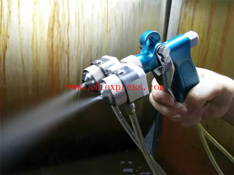 Chrome Silvering Spray Gun Two Head Dual Nozzle Spray Gun for Jewerly Spraying Stainless Steel Nozzle Needle Anti-corrosion  plastic spray head nozzle for water spray gun