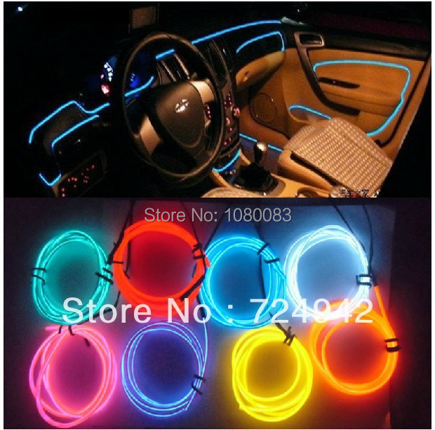 free shipping el decorative strip light car interior lights ambient lighting retrofit body trim. Black Bedroom Furniture Sets. Home Design Ideas