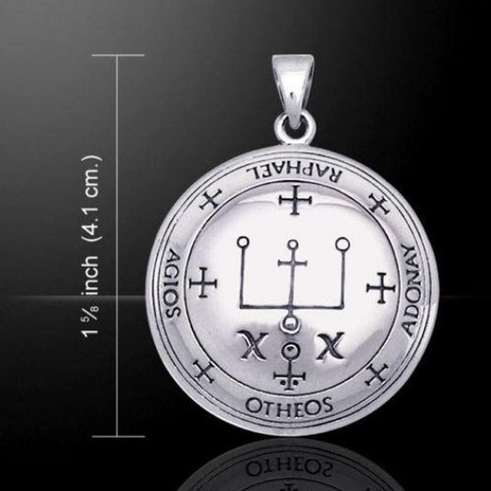 Archangel Raphael Talisman Silber Und Gold Ton Bronze Siegel Der Raphael Angelic Anhänger