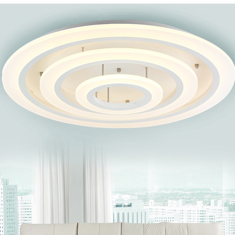 ФОТО Led round luxury high-end modern minimalist acrylic ceiling light living room  bedroom lamp warm Creative ceiling lights