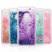 For Huawei Honor 8 9 10 Lite Dynamic Liquid Glitter Quicksand Soft TPU Back Cover 6A 7X Silicone Case V9 Play / 6C Pro