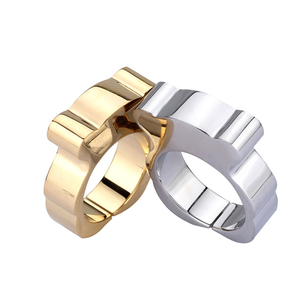 c96cec21206 Silver & Gold rings sortijas de mujer Cute Bear Ring Stainless Steel  anillos oro 18k mujer joyas de acero inoxidable-in Rings from Jewelry &  Accessories on ...