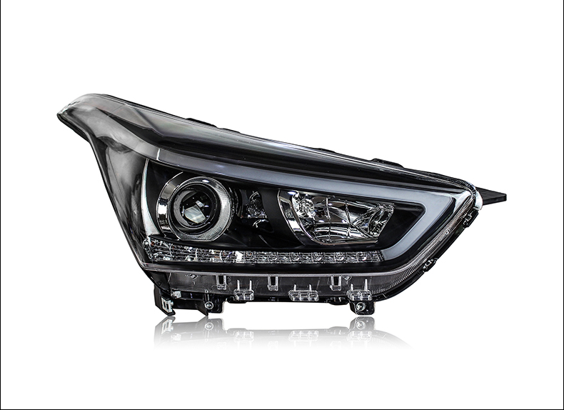 Car Styling Head Lamp For Hyundai Creta IX25 2015 2016 2017 Headlights LED Dynamic Turn Signal Light LED DRL Bi Xenon Low Beam-in Car Light Assembly from Automobiles & Motorcycles    3