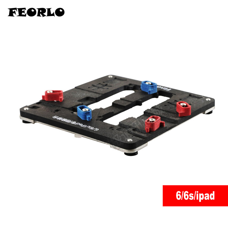 Fixture High temperature Phone IC Chip Motherboard Jig Board Tool for iPhone 6 6S 6sp ipad motherboard BGA Chip repair wozniak mobile phone maintenance clamp for iphone bga chip motherboard fixture location remove glue tin plant fixed clamp
