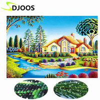 Diy 5d Icons Diamond Embroidery Painting Mosaic Landscapes Garden Still Life Embroidery Diamond Round Rhinestones Complete
