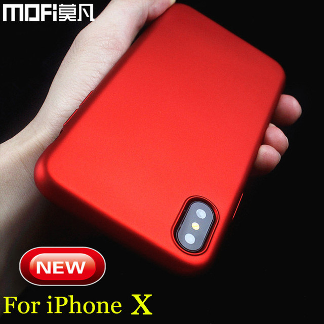 newest a1b7e c6acd US $6.23 10% OFF|case for iPhone x hard back cover luxury red black capas  for iPhonex case full cover protect MOFi for apple iPhone x case cover-in  ...