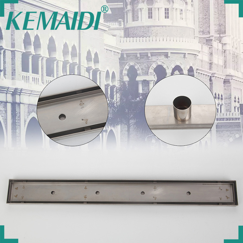 цена на KEMAIDI Free Shipping 24-inch Linear Shower Drain Channel with Flat Grate, 2