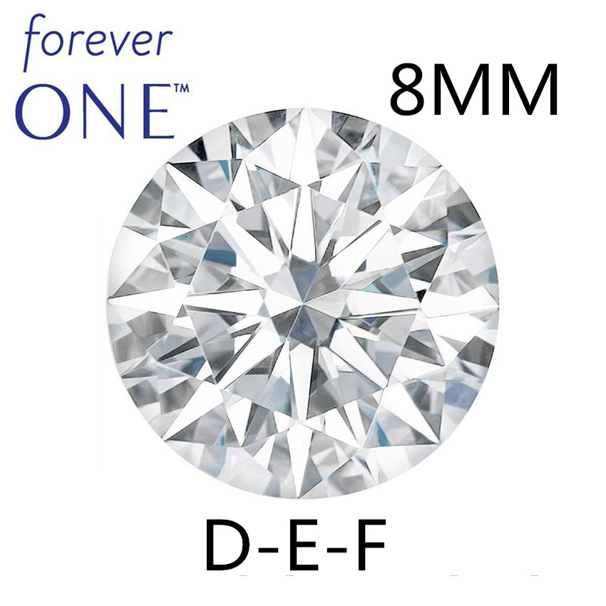 Certified Charles Colvard Round Brilliant Hearts and Arrows 1.9CT Effect VVS D E F Color Excellent Cut Moissanite Stone Certified Charles Colvard Round Brilliant Hearts and Arrows 1.9CT Effect VVS D E F Color Excellent Cut Moissanite Stone