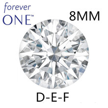 Certified Charles Colvard Round Brilliant Hearts and Arrows 1.9CT Effect VVS D E F Color Excellent Cut Moissanite Stone