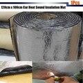 1Pcs 120cm x100cm Car Hood Engine Firewall Heat Mat Deadener Sound Insulation Deadening Material Aluminum Foil Sticker