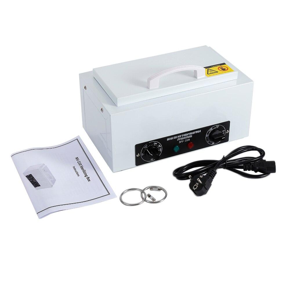 220 v Haute Température Manucure Stérilisateur Pour Nail Outils Chaude Air Désinfection Avec Amovible En Acier Inoxydable Nail Machine HWC