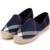 2017 Nueva mujer alpargatas zapatos pescador ocasional comprueba rejillas despojado resbalón de la lona en snickers skate planos del ballet de los holgazanes