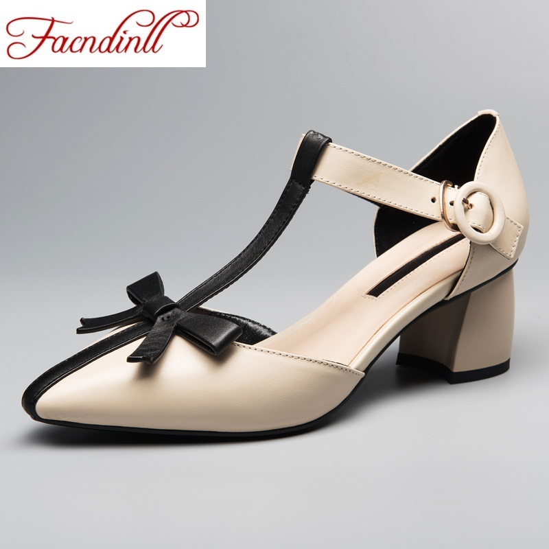 FACNDINLL 2018 women pumps fashion thick high heels single shoes new spring summer genuine leather party wedding shoes woman morazora fashion 2017 women pumps thick heels platform spring single shoes woman high heels round toe party wedding shoes