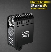 1pc best price NITECORE GP3 action Camera 360 lumens 5 modes USB charging suit for gopro camera comes with 1180 Mah NLGP3 batter