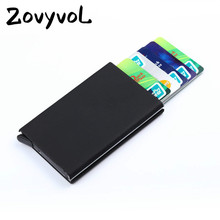 цена на ZOVYVOL Men Women Business Credit Card Holder ID Card Case Metal Cardholder Metal Wallet Travel Card Wallet Aluminium Alloy