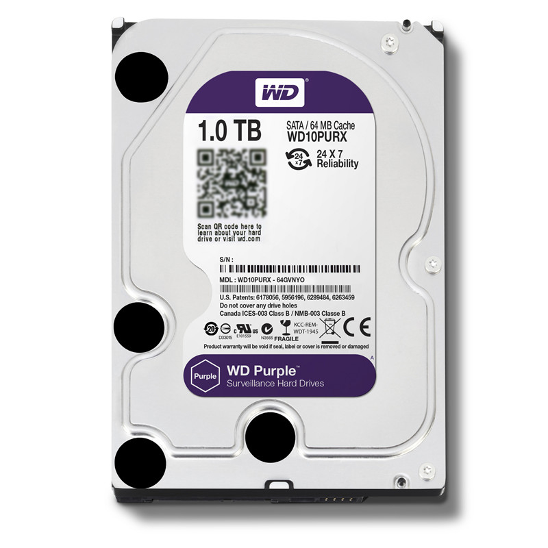 WD Purple 1TB Surveillance Internal Hard Drive Disk Cache 3.5 Inch 64M Cache SATA III 6Gb/s HDD HD Harddisk for CCTV DVR NVR|Internal Hard Drives| - AliExpress