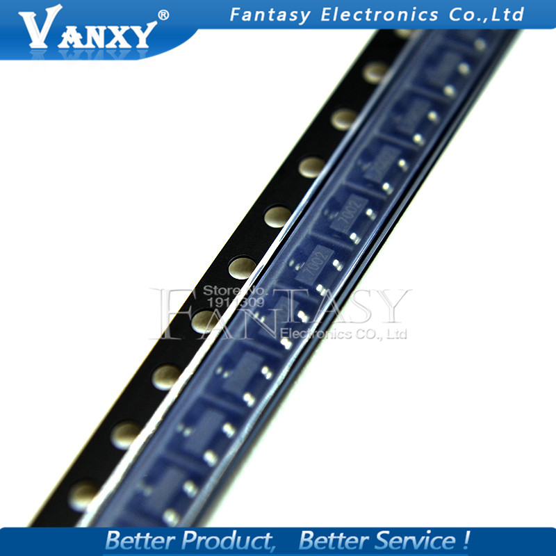 100PCS 2N7002LT1G SOT23 2N7002 SOT SOT-23 SMD 702 MMBT7002LT1G 60 V, 115 MA, N-Channel New And Original