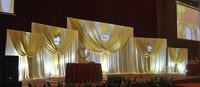 Большой белый свадебный фон занавес с пятью съемный занавес вечерние украшения штора фон