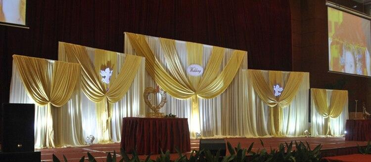 Large White font b Wedding b font font b Backdrops b font Curtain with Five Detachable