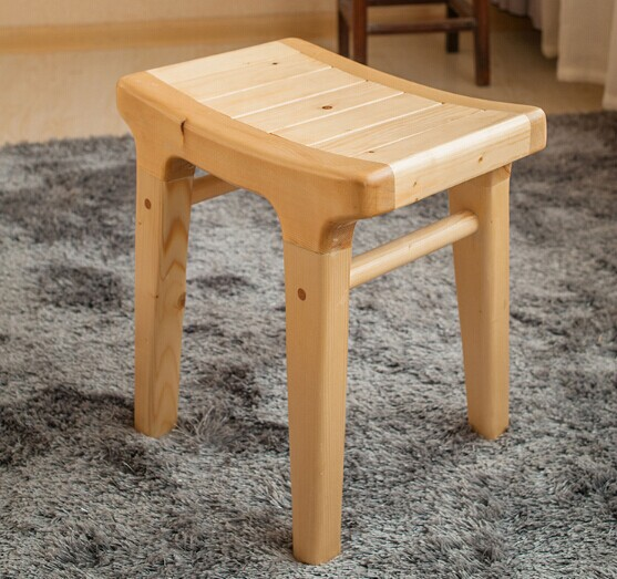 Buy 100 wooden stool pure natural handmade solid wood furniture products Cream wooden furniture