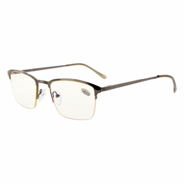 d5750732d7c CG15047 Eyekepper Readers Quality Spring Hings Half-rim Brushed Metal  Computer Reading Glasses Computer Eyeglasses