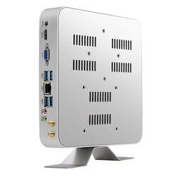 Мини-ПК Intel Core i3 5010U i5 5500U i7 7500U Windows 10 Linux 4 K HTPC офисный компьютер HDMI VGA WiFi Gigabit Ethernet 6xusb