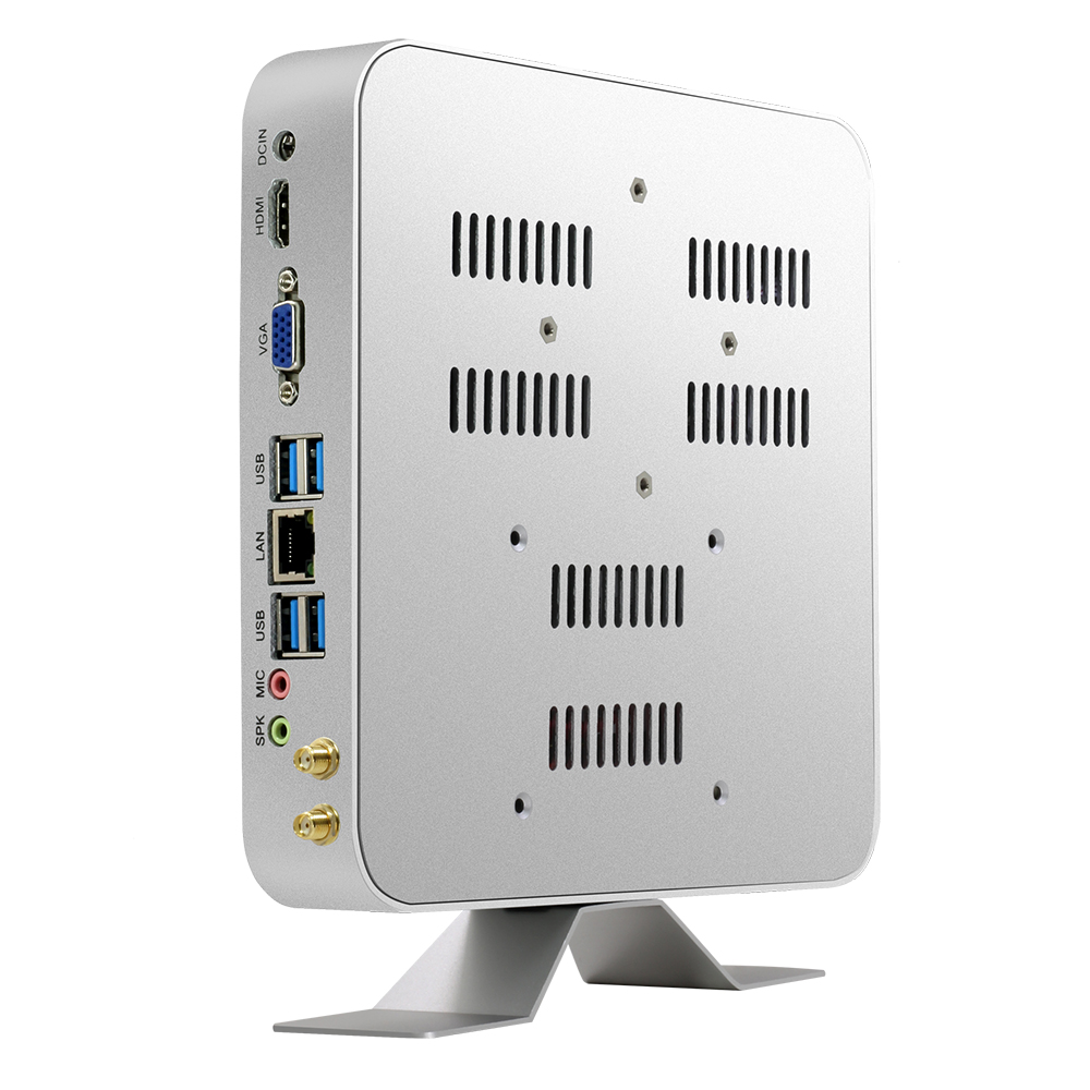 Mini PC Intel Core I3 5010U I5 5500U I7 7500U Windows 10 Linux 4K HTPC Office Computer HDMI VGA WiFi Gigabit Ethernet 6xUSB