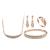 ZHOUYANG Vals de Amor de Oro de Calidad Superior de Cristal Austriaco Joyería Fija Con Anillo Aretes Collar Bangl ZYS359