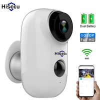 1080P WIFI Battery Camera IP Outdoor Rechargeable Wireless IP Camera PIR Waterproof Motion Detect App View Hiseeu