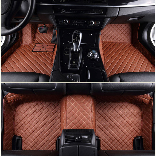 Custom Fit Front & Rear Car Foot Pads Leather Car Floor