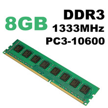 Brand New 8GB DDR3 Memory RAM PC3-10600 1333MHz Desktop PC DIMM 240 pins For AMD System Hight Quality