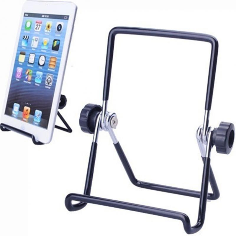 High Quality Iron Tablet Holder Rack For 7inch Tablet PC Matel Adjustable Folding Stand Holder For Ipad Foldable Rack #827 New