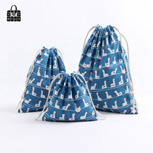1 pcs Blue duck 100% Cotton Bunch Pocket Travel Accessories Clothing Toys Storage Bag Organizers Multi-Function
