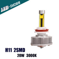 H11 Trucks Auto LED Fog Lamps Easy Install Car Bulb Factory Sale H11 2SMD Brightest 20W 3000K 2400LM Golden Lights