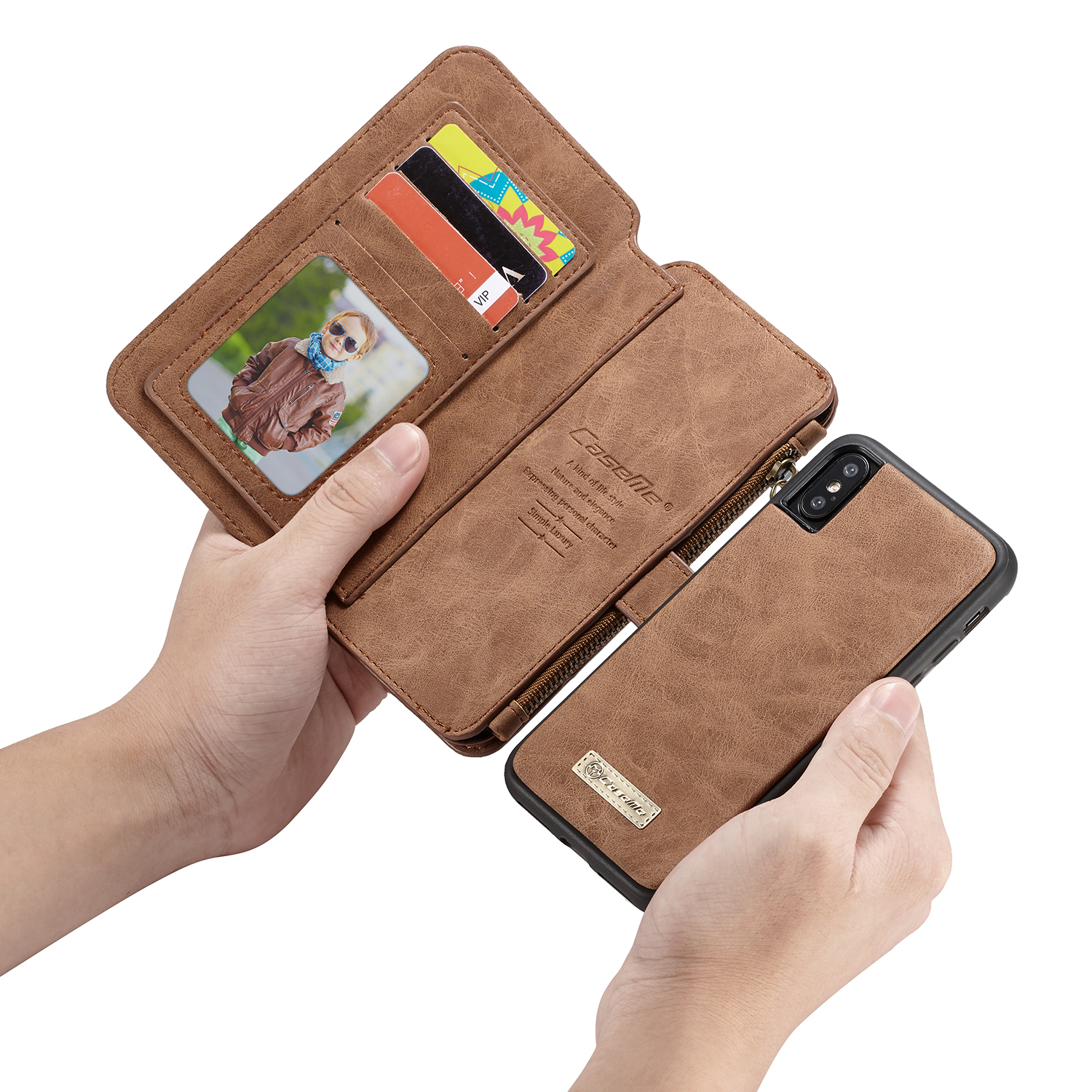 Image 3 - For iPhone XR XS Max wallet case Caseme Leather Wallet bag чехол 