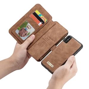 Image 3 - עבור iPhone XR XS מקס ארנק מקרה Caseme עור ארנק תיק чехол книжка на айфон 7 8 плюс רוכסן Flip ספר מקרה עם כרטיס חריצים