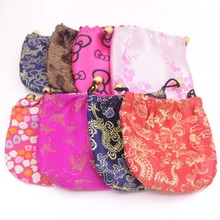10cmX10cm Random Color Man-Made Silk Jewelry Gift Cloth Pouches China Vintage 1PCS 20PCS  50PCS 100PCS