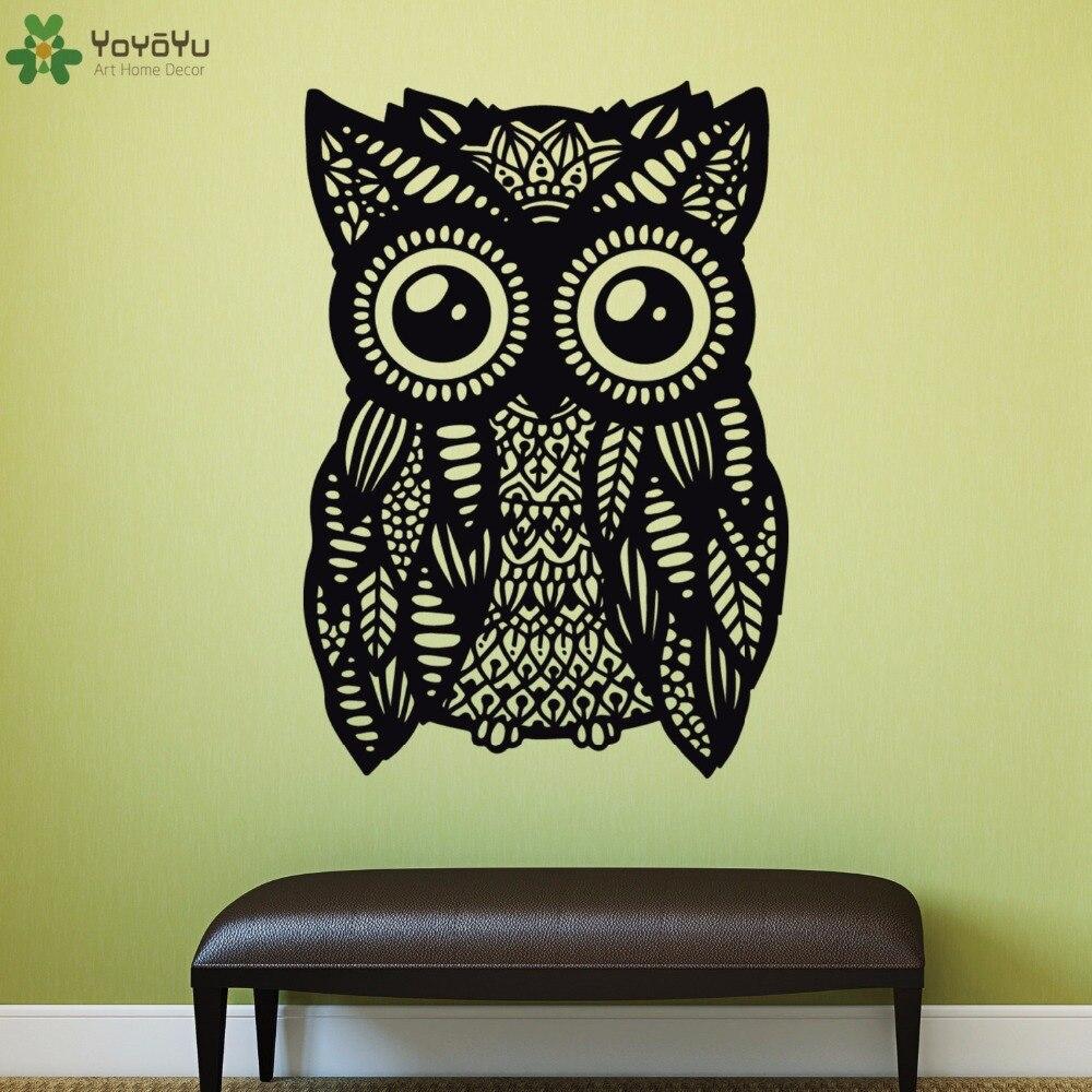 YOYOYU Wall Decal Mandala Owl Animal Wall Stickers Vinyl Removable ...