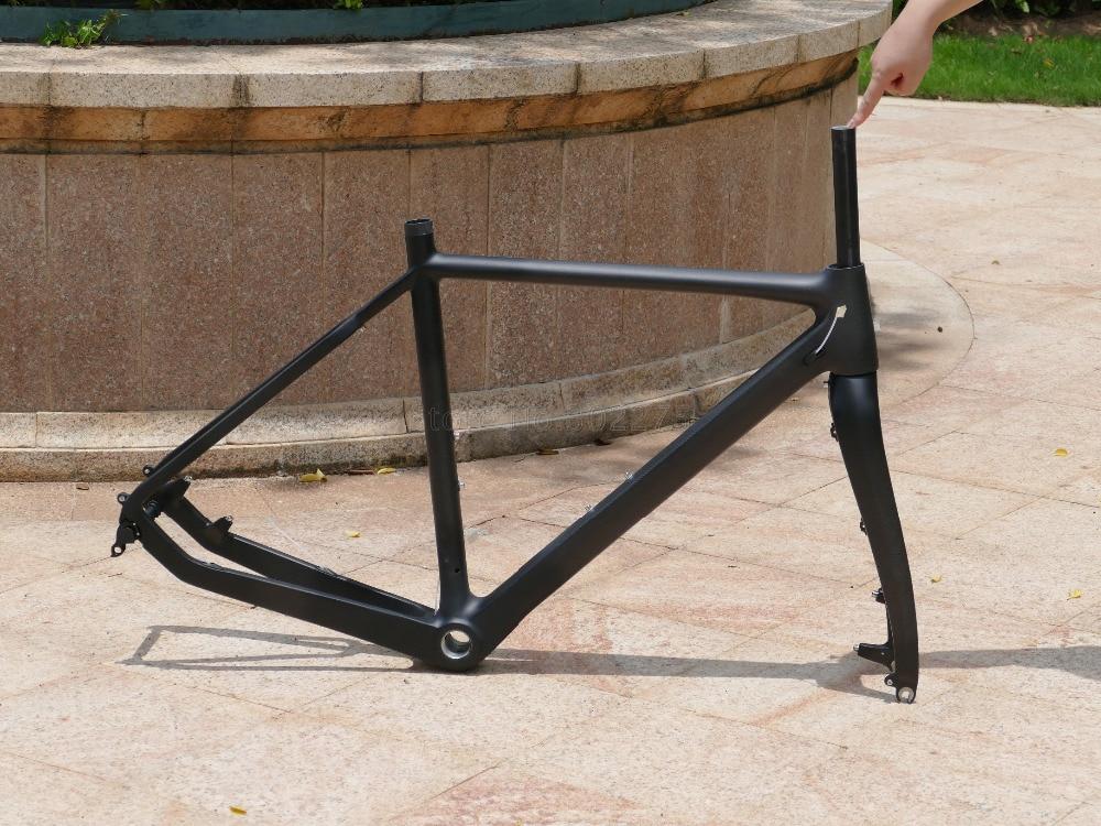 Toray Carbon Cyclocross Bike 700C Cyclo Cross Disc Brake BSA Frame 51cm /& Fork