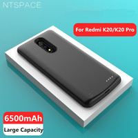 NTSPACE External Battery Cases For Xiaomi Redmi K20 Pro Power Case 6500mAh Charging Cover Power Bank For Redmi K20 Charger Cases