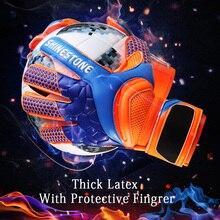 Мужские, детские, латексные, профессиональные, футбольные, вратарские перчатки, сильная защита пальцев, перчатки для футбольного матча