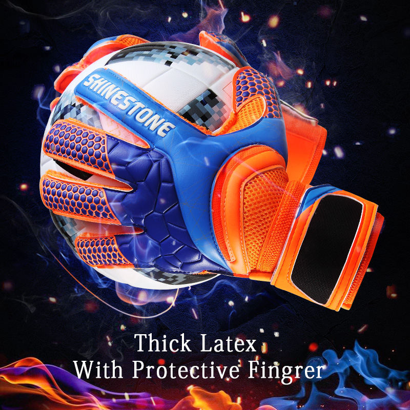 Men Kids Size Latex Professional Soccer Goalkeeper Gloves Strong Finger Protection Football Match Gloves