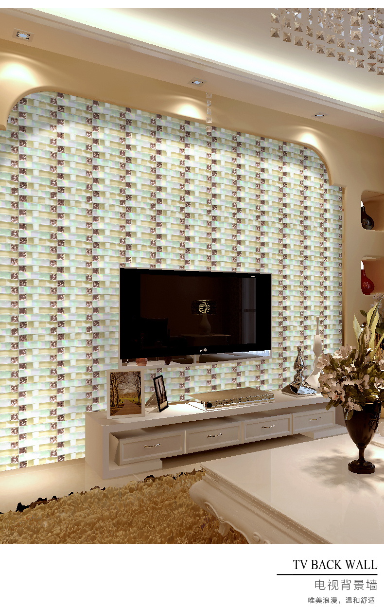 US $230.5 |Iridescent Woven wave mosaic arch mosaic crystal glass art  mosaic tile kitchen backsplash tile A4CL170-in Wallpapers from Home  Improvement ...
