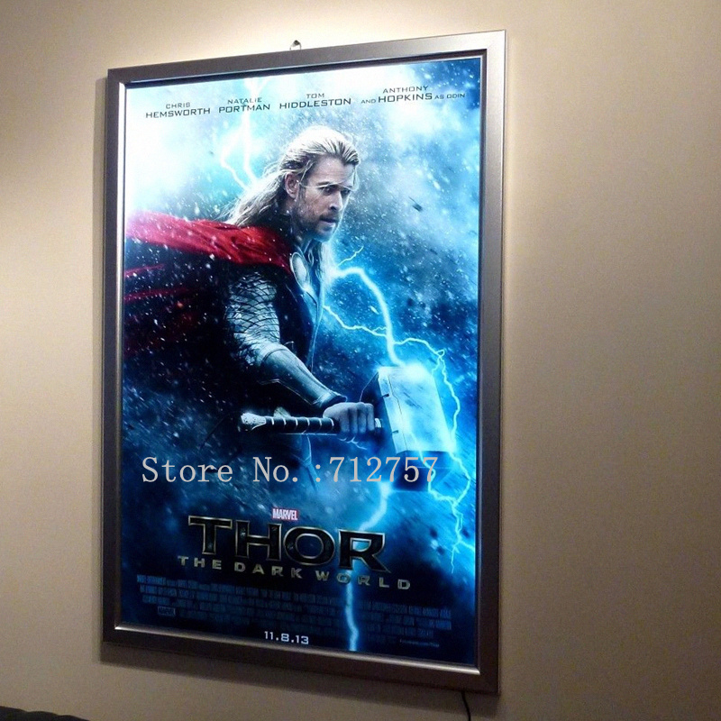 wholesale home theater a1 led movie poster frames aluminum frame lighted up movie poster display light