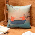 Creative Cotton Pillow Cushion Fox Cartoon Pillow Living Room Bedroom Pillow Bolster 45 X 45cm Hot Sale