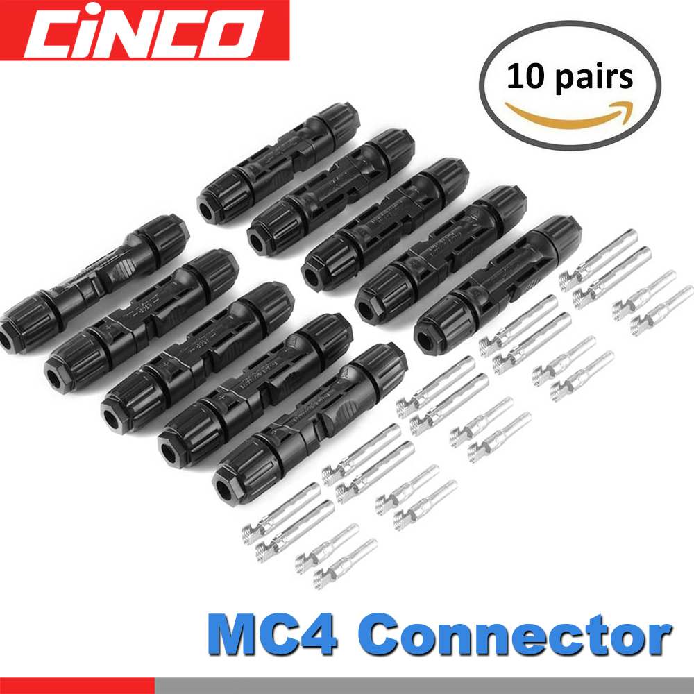 10pairs/lot MC4 Solar Panel Plug MC4 Connector Male And Female Connector Used For Solar Cable 2.5mm2 4mm2 6mm2