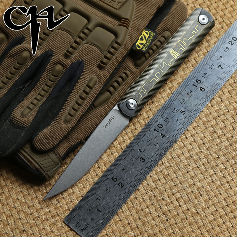 CH WUBU ZIEBA Folding knife Titanium handle ZDP 189 blade KVT ball bearing hunting camping outdoor Knives survival EDC tools stenzhorn survival knife new rushed navajas 2017 s35vn knife bearing folding with a blade with high hardness in the wilderness