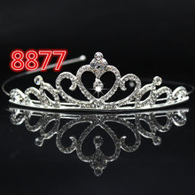 Bridal Wedding Crystal Tiara Headband Party Princess Prom Crown Kids Girl Hairband Hair Accessiories @M23