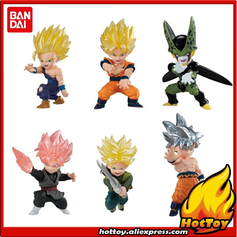 100 Original BANDAI ADVERGE MOTION 01 Toy Figure Full Set 6 Pcs Goku Gohan Cell Trunks