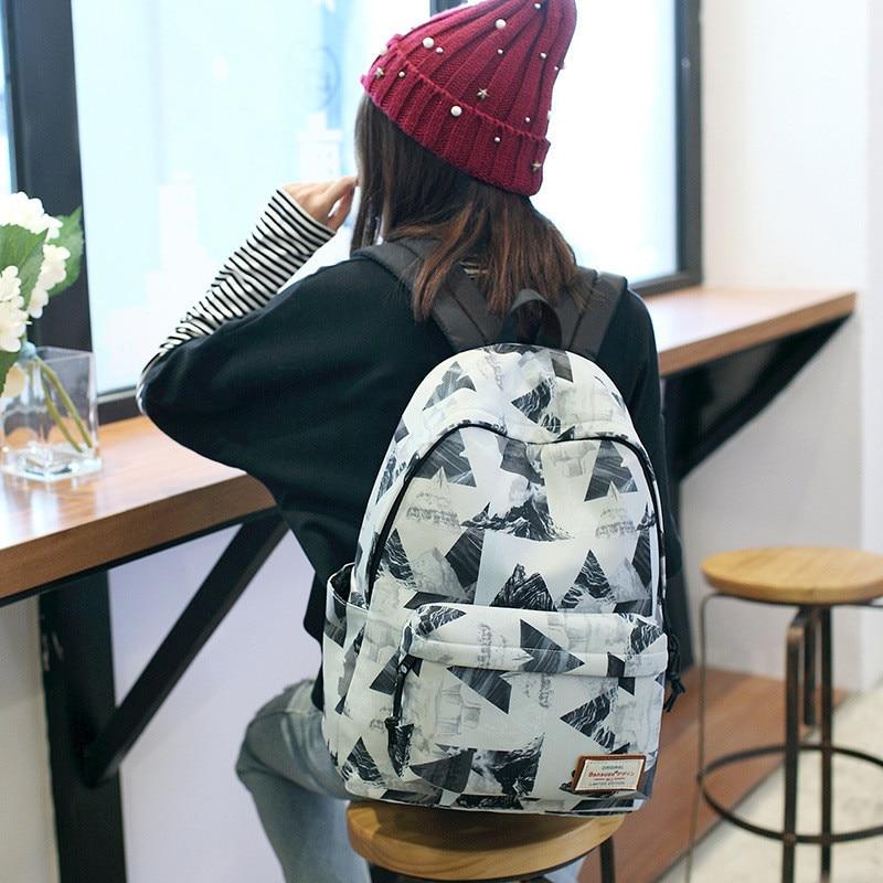 Women Backpack For School Teenagers Girls Stylish Ladies Bag Backpack Female Printing High Quality Rucksack Schoolbag